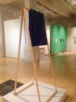 blue fabric wooden a frame modern art