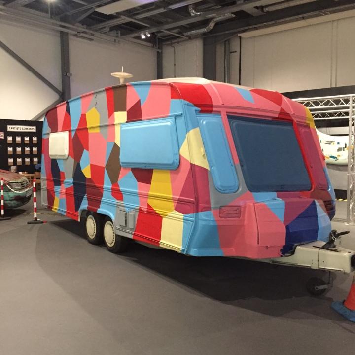 Colourful caravan