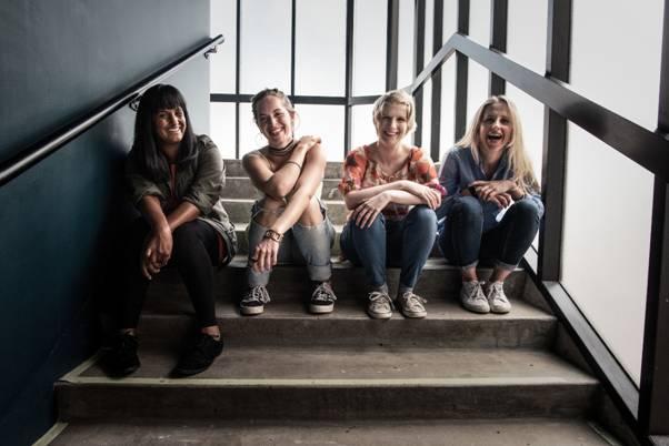 New & Nurtured writers Manjeet Mann, Elinor Coleman, Susie Sillett and Olivia Winteringham.